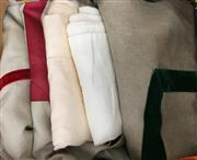 Sale 8310A - Lot 365 - A boxed assortment of ivory and beige linen table cloths