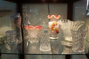 Sale 8360 - Lot 140 - Possibly Victorian Applied Glass Vase & Others Glass wares