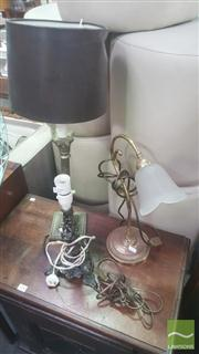 Sale 8424 - Lot 1075 - Collection Of Table Lamps Incl Column Form Example