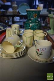 Sale 8530 - Lot 2322 - Group of Sundries incl. Wedgwood Cup & Saucer; Burleigh Ware Cups & Saucer etc