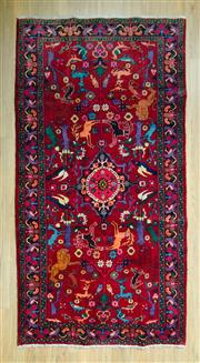 Sale 8585C - Lot 74 - Persian Animal Design Hamdan 240cm x 125cm