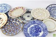 Sale 8599 - Lot 94 - Early Cabinet Plates Incl Wedgwood (10)