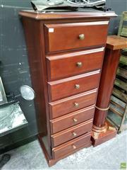 Sale 8611 - Lot 1010 - Hycraft Tall Chest of Seven Drawers