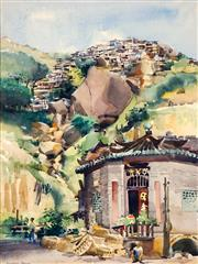 Sale 8773 - Lot 624 - Frederick Bates (1918 - 2009) - Hills of Hong Kong, 1975 49.5 x 36.5cm