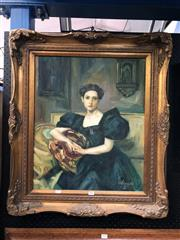 Sale 8797 - Lot 2001 - BS. Esposito - Portrait of a Woman oil on canvas, 80 x 69.5cm (frame)