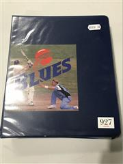 Sale 8863S - Lot 49 - NSW Blues Signed. A folder of ephemera, programs and tiockets signed by Taylor, Waugh, Bevan,MacGill, Thomas (3)Steve Small, Slater....