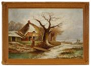 Sale 8973 - Lot 2028A - Artist Unknown - Farmhouse in Winter 38.5 x 59.5 cm (frame: 53 x 73 x 7 cm)