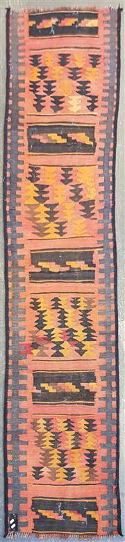 Sale 9043 - Lot 1080 - Hand Knotted Pure Wool Persian Kilim Runner (255 x 65cm)