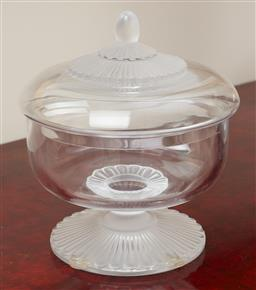Sale 9099 - Lot 254 - A Lalique frosted glass lidded powder jar, total Height 18.5cm