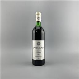 Sale 9189W - Lot 764 - 1987 Lakes Folly Cabernet, Hunter Valley - very high shoulder