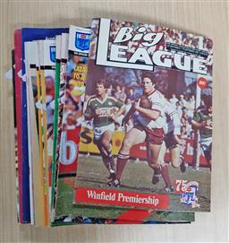 Sale 9176 - Lot 2349 - Collection of Sporting Magazines incl. Big League; Cricketer;  etc