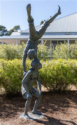 Sale 9248H - Lot 2 - A large bronze figural group of children at play, height 250cm.