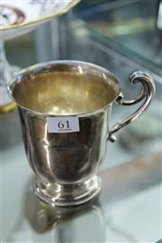 Sale 8296 - Lot 61 - English Hallmarked Sterling Silver Handled Cup (a.f) (weight - 234g)