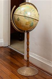 Sale 8882H - Lot 92 - A terrestrial globe on stand (Damaged). Height 89cm