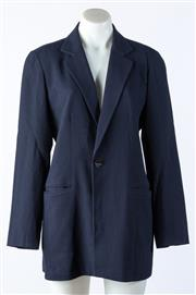 Sale 9003F - Lot 77 - A Savanna suit Jacket in navy blue crepe, size 8