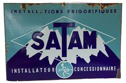 Sale 9142A - Lot 5100 - French mid-century advertising enamel sign SATAM