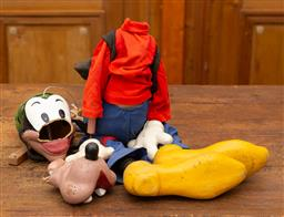 Sale 9160H - Lot 29 - A Pelham puppet marionette of Pluto, in need of repairs, Length of shoe 27.5cm