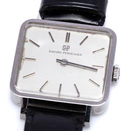 Sale 9194 - Lot 546 - GIRRARD PERREGAUX LADYS STAINLESS STEEL WRISTWATCH; square sIlvered dial, applied baton markers, 17 jewell cal. 780773 manual movem...