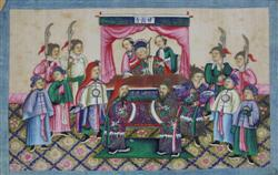 Sale 7919 - Lot 504 - Chinese School (12 Works) - Court Scenes