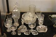 Sale 7953 - Lot 61 - Collection of Crystal Ware incl Vases, Decanters, Glasses, etc
