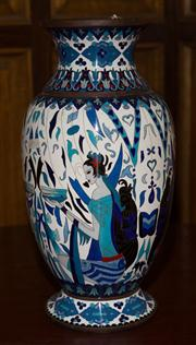 Sale 7981B - Lot 14 - A large French Art Deco Cloisonne vase H:390