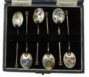 Sale 7988 - Lot 35 - English Hallmarked Sterling Silver Coffee Spoons