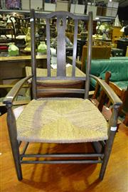 Sale 8093 - Lot 1548 - Single Rush Seat Chair