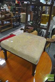 Sale 8299 - Lot 1070 - Parlour Chair and Foot Stool