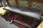 Sale 8326 - Lot 1712 - Stretcher Base Hall Table