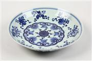Sale 8452 - Lot 24 - Blue & White Chinese Religious Plate (Diameter - 19cm)