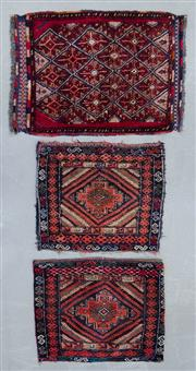 Sale 8480C - Lot 69 - 3 x Persian Door Mats Approx 55cm x 40cm