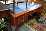 Sale 8566 - Lot 1710 - Empire Style Desk with Tooled Leather Top (77 x 79.5 x 160)
