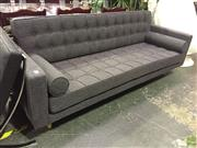 Sale 8643 - Lot 1190 - A three seater Scandinavian style lounge in charcoal, width 214cm - as new