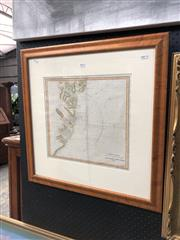 Sale 8816 - Lot 2002 - Antique Map: Coast Chart: Shewing the range of Lights & Soundings in the Approaches to Port Jackson, handcoloured lithograph, 62 x 6...