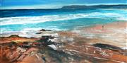 Sale 9034A - Lot 5052 - Cheryl Cusick - Beach Rocks 91 x 183 cm (stretched and ready to hang)