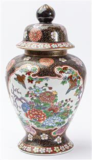 Sale 9083N - Lot 50 - A lidded Chinese vase with bird and flower decoration. Height 31cm