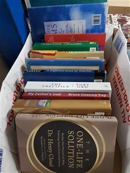 Sale 9176 - Lot 2352 - Box of New Age Books incl. Dowrick, S. Seeking the Sacred; Tolle, E. A New Earth; The Complete Idiots Guide to Numerology 2nd....