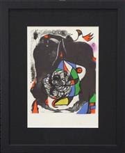 Sale 8301A - Lot 36 - Joan Miro (1893 - 1983) - Revolution II 30 x 23.5cm
