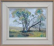 Sale 8173A - Lot 92 - Attributed to George Feather Lawrence (1901 - 1981) - Big Tree 27 x 34cm
