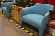 Sale 8277 - Lot 1019 - Pair of Modern Blue Chairs