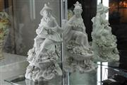 Sale 8360 - Lot 66 - Pair Large Italian Pottery Chinoiserie Figures