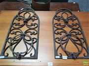 Sale 8455 - Lot 1093 - Pair of Wall Mount Metal Pot Holders