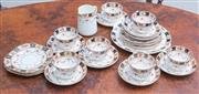 Sale 8515A - Lot 84 - An English bone china part tea set for six in the Imari style
