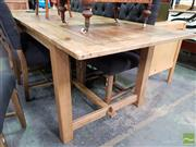 Sale 8550 - Lot 1478 - Recycled Timber Farm House Table (240cm)