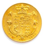 Sale 8905J - Lot 365 - A WILLIAM IV GOLD SOVEREIGN; 1836, ef condition, wt. 7.97g.