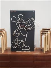 Sale 9076 - Lot 1003 - Mickey Mouse neon sign by Adams Neon (h:102 x w:61cm)