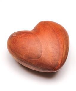 Sale 9098 - Lot 67 - A Heart Shaped Treen Paperweight , W:9.5cm