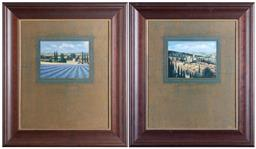 Sale 9165H - Lot 44 - A pair of J.Wiens Landscape prints in Wooden frames. Frame size 77x67cm