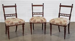 Sale 9215 - Lot 1484 - Set of 3 dining chairs (h85 x d48cm)
