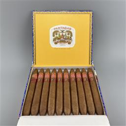 Sale 9250W - Lot 758 - Partagas Salomones Cuban Cigars - box of 10 cigars, stamped August 2020